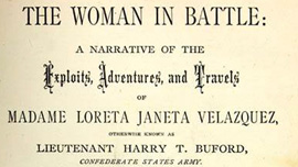 Front inside cover of The Woman In Battle, by Loreta Janeta Velazquez,  sold by subscription