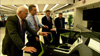 Bob Lutz and Chevy Volt team examining a Volt mock-up