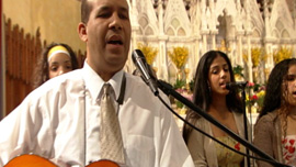Miguel Rosario, music director for Hispanic Apostolate, Saint Patrick Parish, Lawrence, Mass.