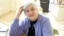 Peggy Oliveto, volunteer at Cor Unum Meal Center