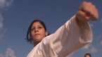 A young Muslim Israeli is trapped between her passion for karate and religious tradition.