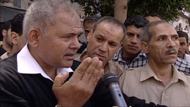 Protesters explain the urgency of their cause – standing in solidarity with Egypt's reformist judges.