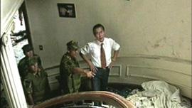 Alberto Fujimori in the Japanese Ambassador's residence
