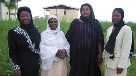 Vera Ngassa, Ladi Ibrahim, Veraline Nchotu, and Amina Abubakari