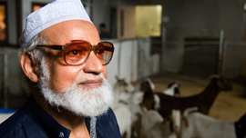 Riaz Uddin, at the family's halal slaughterhouse in Queens, New York
