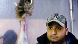 Imran Uddin at the family's halal slaughterhouse