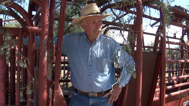 Duncan Blair on his cattle ranch that runs along the U.S.-Mexican border.