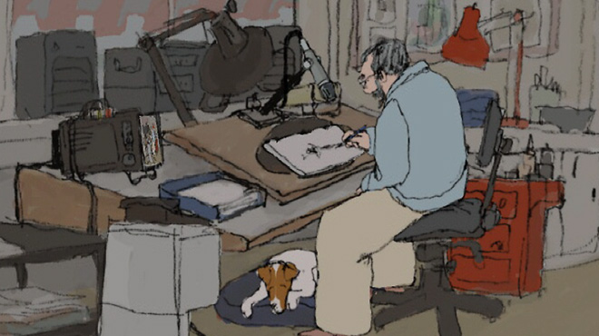 Still from &lt;i&gt;Still Life With Animated Dogs&lt;/i&gt;