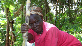 Film subject Naomi Kabura Mukunu in Mirichu, Kenya
