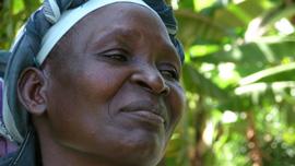 Film subject Rose Wabuke in Malaha, Kenya