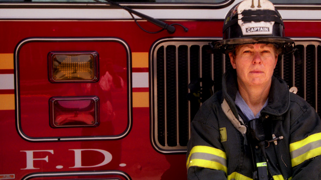 Fire captain Brenda Berkman in New York