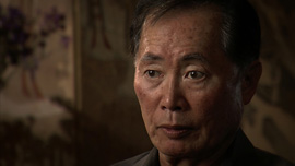 George Takei, actor and social activist, is interviewed in Los Angeles