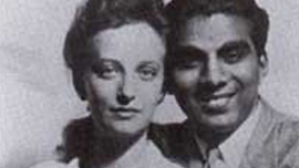 Janet and Cheddi Jagan's wedding photo, 1943