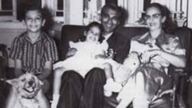 Cheddi and Janet Jagan with their children