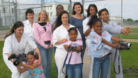 Girl Scout Troop 1500  at the Hilltop Prison in Gatesville, Texas