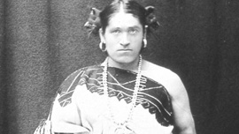 Wewha in the ceremonial costume of Zuni women, 1886