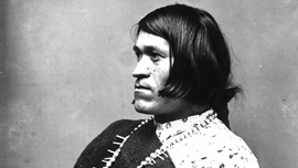 We'wha, Zuni leader who was born male but functioned in female roles, 1886. Photo credit: National Anthropological Archives.
