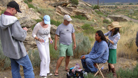 Cast and crew on location in Cortez, Colorado