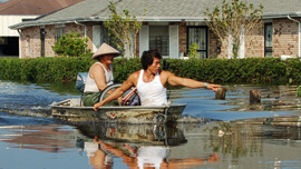 Versailles residents return to their neighborhood following Hurricane Katrina, 2005