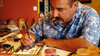 Artist Charlie Carrillo in his New Mexico studio