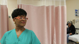 Certified Nurse Assistant Cynthia Y. Johnson at Highland Hospital in The Waiting Room