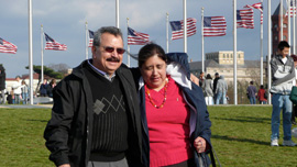 Miguel and Guadalupe Gonzalez in Washington, D.C.