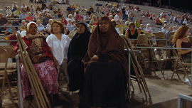 Miss Luci attends the horse show with a few of her Somali students. 