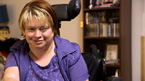Tammy Townsend has cerebral palsy. She wasn't expected to be born, but now she's an advocate for students with cerebral palsy.