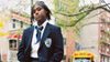 Sharifea strikes a defiant pose standing outside of school