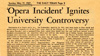 Headline from the University of Texas Daily Texan newspaper, May 12, 1957