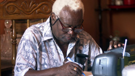 Maestro Urich Pierre, Septentrional's founder, transcribes lost arrangements