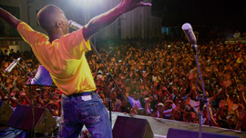 Septentrional plays in Cap Haitian, Haiti at a concert celebrating their 59th Anniversary