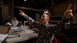 Peter Sellars directs an early rehearsal of Doctor Atomic at the San Francisco Opera