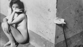 Francesca Woodman in a self portrait: Untitled 1977-78 (Rome)
