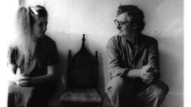 Portrait of Francesca Woodman and George Woodman, taken by Francesca Woodman:  Untitled 1980 (New York)