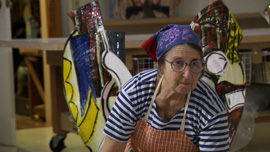 Betty Woodman at her studio in Chelsea, NYC
