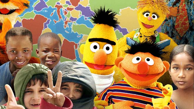 Bert and Ernie and the children of the world