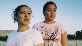 Serena and Sunny Clifford on Pine Ridge Reservation